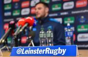 16 January 2018; Robbie Henshaw during a Leinster Rugby press conference at Leinster Rugby Headquarters in Dublin. Photo by Ramsey Cardy/Sportsfile