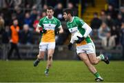 14 January 2018; Paul McConway of Offaly during the Bord na Mona O'Byrne Cup semi-final match between Westmeath and Offaly at Cusack Park, in Mullingar, Westmeath. Photo by Sam Barnes/Sportsfile