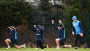 16 January 2018; Leinster players, from left, Jordan Larmour, Isa Nacewa, Joey Carbery and Tommy O'Brien during squad training at UCD in Dublin. Photo by Ramsey Cardy/Sportsfile