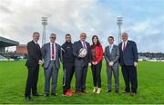 16 January 2018; In attendance, from left, Derek O'Neill, FAI Project Co-Ordinator, Chris Brian, Bohemian FC Chairman, Ger Coughlan, More Than A Club representative, Fran Gavin, FAI Director of Competitions, More Than A Club representatives Carina O'Brien, Shane Fox and Thomas Hynes, President of Bohemian Foundation, at the More Than A Club, Bohemian FC launch at Dalymount Park in Dublin.  Photo by David Fitzgerald/Sportsfile