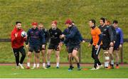16 January 2018; Munster players including Conor Murray, Duncan Williams, Simon Zebo, Rory Scannell, Tyler Bleyendaal, Darren Sweetnam, Dan Goggin, and Calvin Nash during Munster Rugby squad training at the University of Limerick in Limerick. Photo by Aaron Greene/Sportsfile