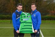 17 January 2018; Newly announced Limerick FC manager Tommy Barrett with new signing Connor Ellis at the University of Limerick in Limerick. Photo by Diarmuid Greene/Sportsfile