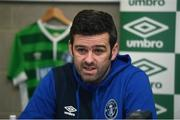 17 January 2018; Newly announced Limerick FC manager Tommy Barrett during a press conference at the University of Limerick in Limerick. Photo by Diarmuid Greene/Sportsfile