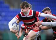 17 January 2018; Luke Fitzpatrick of Wesley College in action against Kilkenny College during the Bank of Ireland Leinster Schools Vinnie Murray Cup Round 2 match between Wesley College and Kilkenny College at Donnybrook Stadium, in Dublin. Photo by Matt Browne/Sportsfile