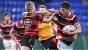 17 January 2018; Daniel Dooley of Wesley College in action against Luke Kerr of Kilkenny College during the Bank of Ireland Leinster Schools Vinnie Murray Cup Round 2 match between Wesley College and Kilkenny College at Donnybrook Stadium, in Dublin. Photo by Matt Browne/Sportsfile