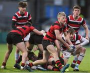 17 January 2018; Luke Kerr of Kilkenny College in action against Wesley College during the Bank of Ireland Leinster Schools Vinnie Murray Cup Round 2 match between Wesley College and Kilkenny College at Donnybrook Stadium, in Dublin. Photo by Matt Browne/Sportsfile