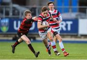 17 January 2018; Ian Sheridan of Wesley College is tackled by Andrew Ross of Kilkenny College during the Bank of Ireland Leinster Schools Vinnie Murray Cup Round 2 match between Wesley College and Kilkenny College at Donnybrook Stadium, in Dublin. Photo by Matt Browne/Sportsfile