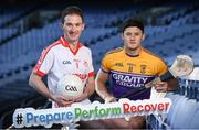 18 January 2018; Former Mayo footballer and current Ballintubber player Alan Dillon, left, with Faythe Harriers and Wexford hurler Lee Chin pictured during the launch of GAA Player Conference at Croke Park in Dublin. The first ever GAA Player Conference Launch takes place in Croke Park on Saturday February 17th, 2018 and is open to all GAA players. Bookings can be made via http://learning.gaa.ie/player Photo by Sam Barnes/Sportsfile