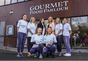 18 January 2018; Gourmet Food Parlour Managing Director Lorraine Heskin, centre, and LGFA Chief Executive Helen O'Rourke alongside ladies footballers, from left, back row, Muireann Atkinson of Monaghan, Martha Byrne of Dublin, Megan Glynn of Galway, Eimear Scally of Cork, bottom row, Lauren Magee of Dublin and Laura McGinley of Dublin in attendance at today's announcement that Gourmet Food Parlour will sponsor the Ladies Gaelic Football Association's Higher Education championships for a three-year period. The high-profile Gourmet Food Parlour O'Connor Cup weekend will be held at IT Blanchardstown and the National Sports Campus, Abbottstown, from March 9-11. Photo by David Fitzgerald/Sportsfile