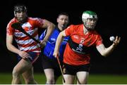18 January 2018; Mark O'Brien of University College Cork in action against Jerry O'Neill of Cork Institute of Technology during the Electric Ireland HE GAA Fitzgibbon Cup Group A Round 2 match between Cork Institute of Technology and University College Cork at Cork IT, in Bishopstown, Cork.  Photo by Matt Browne/Sportsfile