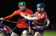 18 January 2018; Robbie O'Flynn of University College Cork in action against Conor Prunty of Cork Institute of Technology during the Electric Ireland HE GAA Fitzgibbon Cup Group A Round 2 match between Cork Institute of Technology and University College Cork at Cork IT, in Bishopstown, Cork.  Photo by Matt Browne/Sportsfile