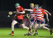 18 January 2018; John Power of University College Cork in action against John Good of Cork Institute of Technology during the Electric Ireland HE GAA Fitzgibbon Cup Group A Round 2 match between Cork Institute of Technology and University College Cork at Cork IT, in Bishopstown, Cork.  Photo by Matt Browne/Sportsfile