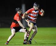 18 January 2018; Michael Kearney of Cork Institute of Technology in action against Conor Gleeson of University College Cork during the Electric Ireland HE GAA Fitzgibbon Cup Group A Round 2 match between Cork Institute of Technology and University College Cork at Cork IT, in Bishopstown, Cork.  Photo by Matt Browne/Sportsfile