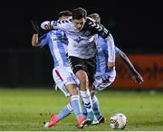 19 January 2018; Cristian Magerusan of Bohemians in action against Dylan Grimes of Shelbourne during the Preseason Friendly match between Bohemians and Shelbourne at the FAI National Training Centre in Abbotstown, Dublin. Photo by Eóin Noonan/Sportsfile