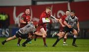 19 January 2018; Conor Fitzgerald of Munster is tackled by Morgan Morris and Callum Carson of Ospreys Premiership Select during the British & Irish Cup Round 6 match between Munster A and Ospreys Premiership Select at Irish Independent Park in Cork. Photo by Diarmuid Greene/Sportsfile