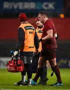 19 January 2018; Brian Scott of Munster leaves the pitch after picking up an injury during the British & Irish Cup Round 6 match between Munster A and Ospreys Premiership Select at Irish Independent Park in Cork. Photo by Diarmuid Greene/Sportsfile