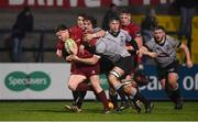 19 January 2018; Mike Sherry of Munster is tackled by Joe Tomalin-Reeves and Morgan Morris of Ospreys Premiership Select during the British & Irish Cup Round 6 match between Munster A and Ospreys Premiership Select at Irish Independent Park in Cork. Photo by Diarmuid Greene/Sportsfile