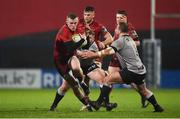 19 January 2018; Stephen Fitzgerald of Munster is tackled by Rowan Jenkins of Ospreys Premiership Select during the British & Irish Cup Round 6 match between Munster A and Ospreys Premiership Select at Irish Independent Park in Cork. Photo by Diarmuid Greene/Sportsfile