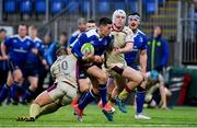 20 January 2018; Noel Reid of Leinster A is tackled by Simon Humberstone, left, and Curtis Langdon of Doncaster Knights during the British & Irish Cup Round 6 match between Leinster 'A' and Doncaster Knights at Donnybrook Stadium in Dublin. Photo by Brendan Moran/Sportsfile