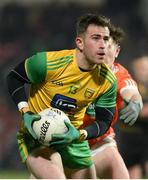 20 January 2018; Patrick McBrearty of Donegal in action against Joe McIlroy of Armagh during the Bank of Ireland Dr. McKenna Cup semi-final match between Donegal and Armagh at Celtic Park in Derry. Photo by Oliver McVeigh/Sportsfile