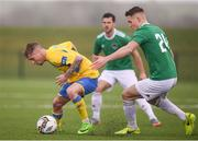 20 January 2018; Jesse Devers of Finn Harps in action against Sean McLoughlin of Cork City during the pre-season friendly match between Cork City and Finn Harps at the FAI National Training Centre in Abbotstown, Dublin. Photo by Stephen McCarthy/Sportsfile