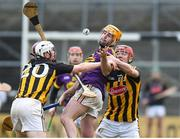 20 January 2018; Eoin Moore of Wexford in action against Lester Ryan, left, and Pat Lyng of Kilkenny during the Bord na Mona Walsh Cup Final match between Kilkenny and Wexford at Nowlan Park in Kilkenny. Photo by Matt Browne/Sportsfile