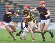 20 January 2018; Cillian Buckley of Kilkenny in action against Wexford players, from left, Eanna Martin, Jack Firman, and Jack O'Connor during the Bord na Mona Walsh Cup Final match between Kilkenny and Wexford at Nowlan Park in Kilkenny. Photo by Matt Browne/Sportsfile