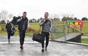21 January 2018; Sligo players Niall Murphy, left, and Neil Ewing arrive prior to the Connacht FBD League Round 5 match between Sligo and Mayo at James Stephen's Park in Ballina, Co Mayo. Photo by Seb Daly/Sportsfile