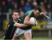 21 January 2018; Jason Doherty of Mayo in action against Eddie McGuinness of Sligo during the Connacht FBD League Round 5 match between Sligo and Mayo at James Stephen's Park in Ballina, Co Mayo. Photo by Seb Daly/Sportsfile