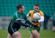 21 January 2018; Marty Hughes of Fulham Irish in action against Liam Silke of Corofin during the AIB GAA Football All-Ireland Senior Club Championship Quarter-Final Refixture match between Fulham Irish and Corofin at McGovern Park in Ruislip, England. Photo by Matt Impey/Sportsfile