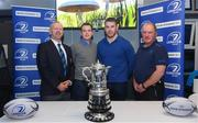 21 January 2018;  In attendance during the Bank of Ireland Provincial Towns Cup Round 2 Draw are, from left, Lorcan Balfe, Leinster Rugby Senior Vice President, Sean O'Brien of Leinster, Adrian Slevin, Naas Bank of Ireland and Dermot O'Mahony, Leinster Rugby Fixtures Administrator, at Naas RFC in Naas, Kildare. Photo by Sam Barnes/Sportsfile