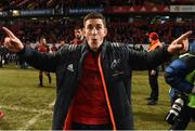 21 January 2018; Ian Keatley of Munster celebrates after the the European Rugby Champions Cup Pool 4 Round 6 match between Munster and Castres at Thomond Park in Limerick. Photo by Diarmuid Greene/Sportsfile