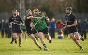 22 January 2018; David Conroy of LIT in action against Fergal Whitely, left, and Donal Burke of DCU during the Electric Ireland HE GAA Fitzgibbon Cup Group C Round 2 match between Limerick Institute of Technology and Dublin City University at Limerick Institute of Technology in Limerick. Photo by Diarmuid Greene/Sportsfile