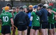 22 January 2018; LIT manager Davy Fitzgerald speaks to his players before the Electric Ireland HE GAA Fitzgibbon Cup Group C Round 2 match between Limerick Institute of Technology and Dublin City University at Limerick Institute of Technology in Limerick. Photo by Diarmuid Greene/Sportsfile