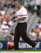 3 August 2003; Mickey Harte, Tyrone manager. Bank of Ireland All-Ireland Senior Football Championship Quarter Final, Tyrone v Fermanagh, Croke Park, Dublin. Picture credit; Damien Eagers / SPORTSFILE *EDI*