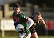 21 January 2018; Brendan Harrison of Mayo in action against Adrian Marren of Sligo during the Connacht FBD League Round 5 match between Sligo and Mayo at James Stephen's Park in Ballina, Co Mayo. Photo by Seb Daly/Sportsfile