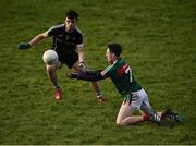 21 January 2018; Paddy Durcan of Mayo in action against Mikey Gordon of Sligo during the Connacht FBD League Round 5 match between Sligo and Mayo at James Stephen's Park in Ballina, Co Mayo. Photo by Seb Daly/Sportsfile