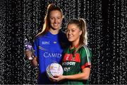 23 January 2018; Ladies Footballers Sarah Rowe, right, of Mayo and Aishling Moloney of Tipperary at the announcement of Lidl Ireland's third year of partnership with the Ladies Gaelic Football Association. Lidl have today launched their new 6 pack of Carrick Glen Active Spring Water. €0.10 of each purchase will fund jerseys & equipment for U-18 level or under LGFA club teams. Nominate your local Ladies Gaelic Football club to win in any Lidl store nationwide or via Lidl Ireland's Facebook page. Photo by Brendan Moran/Sportsfile