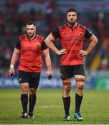 21 January 2018; Jean Kleyn, right, and James Cronin of Munster during the European Rugby Champions Cup Pool 4 Round 6 match between Munster and Castres at Thomond Park in Limerick. Photo by Stephen McCarthy/Sportsfile