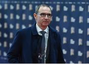 24 January 2018: Republic of Ireland manager Martin O'Neill arrives ahead of the UEFA Nations League Draw in Lausanne, Switzerland. Photo by Stephen McCarthy / UEFA via Sportsfile