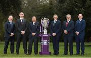 24 January 2018; Six nations head coaches from left, Jacques Brunel, France, Conor O'Shea, Italy, Eddie Jones, England along with Joe Schmidt, Ireland, Warren Gatland, Wales and Gregor Townsend, Scotland at the Natwest Six Nations 2018 launch at Syon Park in London, England. Photo by Ian Walton/Sportsfile