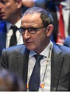 24 January 2018: Republic of Ireland manager Martin O'Neill during the UEFA Nations League Draw in Lausanne, Switzerland. Photo by Stephen McCarthy / UEFA via Sportsfile