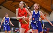 25 January 2018; Grainne O'Reilly of Scoil Chríost Rí in action against Amy O'Byrne of Crescent Comprehensive during the Subway All-Ireland Schools U16A Girls Cup Final match between Crescent Comprehensive, Limerick, and Scoil Chriost Rí, Portlaoise, Laois, at the National Basketball Arena in Tallaght, Dublin. Photo by Brendan Moran/Sportsfile