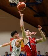 27 January 2018; Iarla McKeon of Templeogue in action against Darragh O'Sullivan of Neptune during the Hula Hoops Under 18 Men's National Cup Final match between Neptune and Templeogue at the National Basketball Arena in Tallaght, Dublin. Photo by Eóin Noonan/Sportsfile