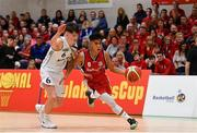 27 January 2018; Kris Arcilla of Templeogue in action against Kelvin O'Donoghue of Neptune during the Hula Hoops Under 18 Men's National Cup Final match between Neptune and Templeogue at the National Basketball Arena in Tallaght, Dublin. Photo by Eóin Noonan/Sportsfile