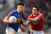 27 January 2018; Michael Quinlivan of Tipperary in action against Micheal McSweeney of Cork during the Allianz Football League Division 2 Round 1 match between Cork and Tipperary at Páirc Uí Chaoimh in Cork. Photo by Stephen McCarthy/Sportsfile