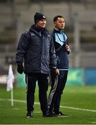 27 January 2018; Dublin manager Jim Gavin, left, and backroom staff member Jason Sherlock during the Allianz Football League Division 1 Round 1 match between Dublin and Kildare at Croke Park in Dublin. Photo by Seb Daly/Sportsfile