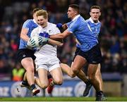 27 January 2018; Daniel Flynn of Kildare in action against John Small, left, and James McCarthy of Dublin during the Allianz Football League Division 1 Round 1 match between Dublin and Kildare at Croke Park in Dublin. Photo by Seb Daly/Sportsfile