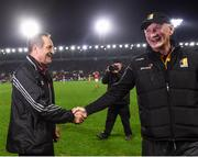 27 January 2018; Cork manager John Meyler and Kilkenny manager Brian Cody following the Allianz Hurling League Division 1A Round 1 match between Cork and Kilkenny at Páirc Uí Chaoimh in Cork. Photo by Stephen McCarthy/Sportsfile
