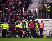 27 January 2018; Cillian Buckley of Kilkenny is stretchered from the pitch during the Allianz Hurling League Division 1A Round 1 match between Cork and Kilkenny at Páirc Uí Chaoimh in Cork. Photo by Stephen McCarthy/Sportsfile